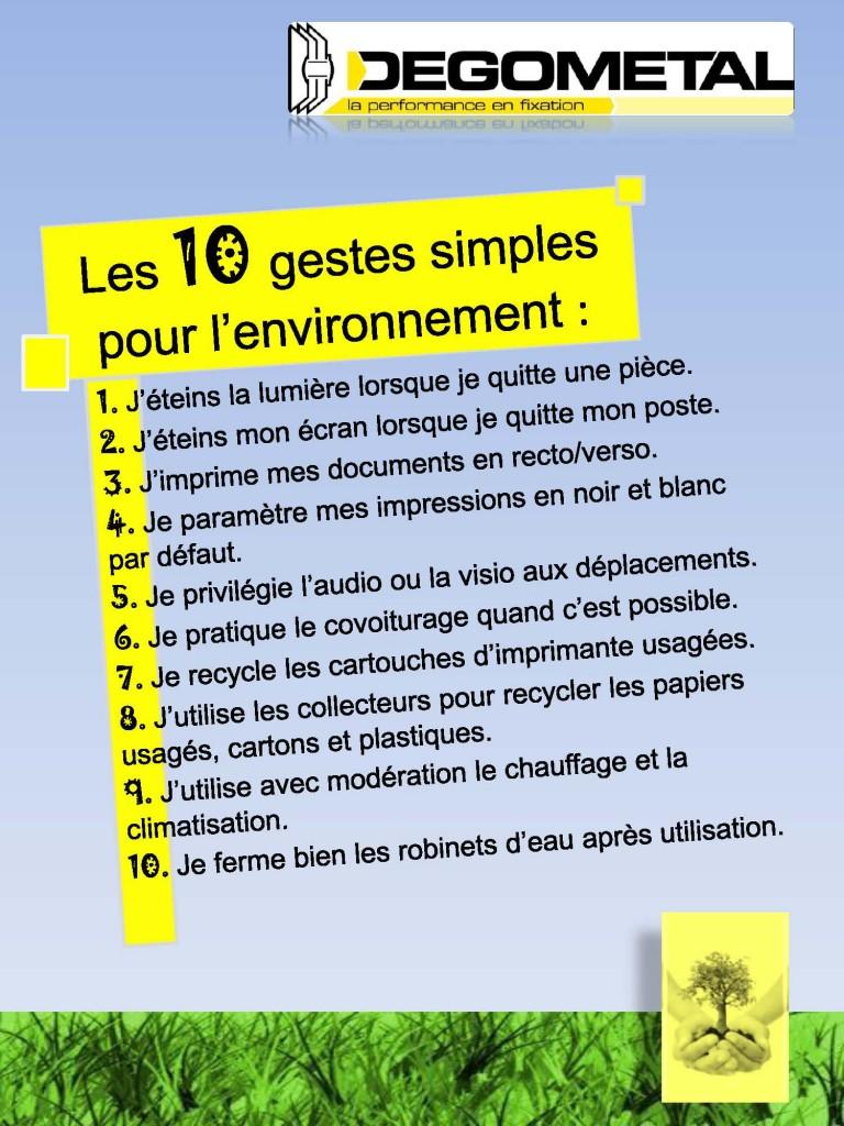 10 Gestes Simples   Ensemble, agissons en faveur de l Environnement ... b99dafd15786