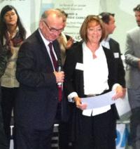 Photo de remise de diplôme à notre PDG