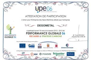 Remise des diplômes pour la 1ère session de Performance Globale 06